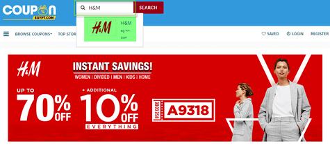 H&M Coupon.com.eg
