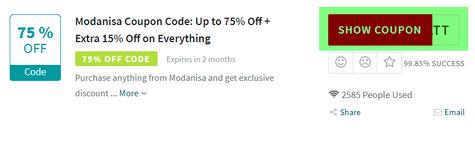 Modanisa Code