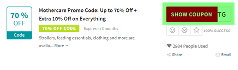 Mothercare Code